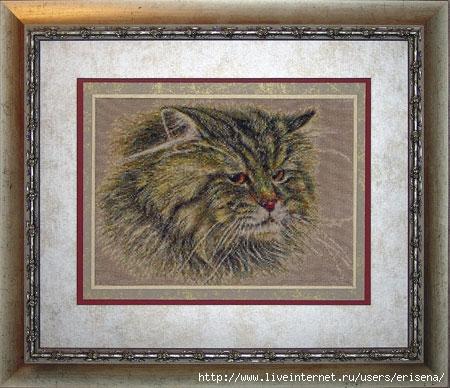 Картины кошки вышивка