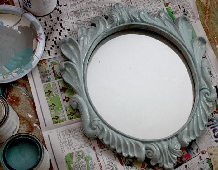 Как покрасить рамку зеркала