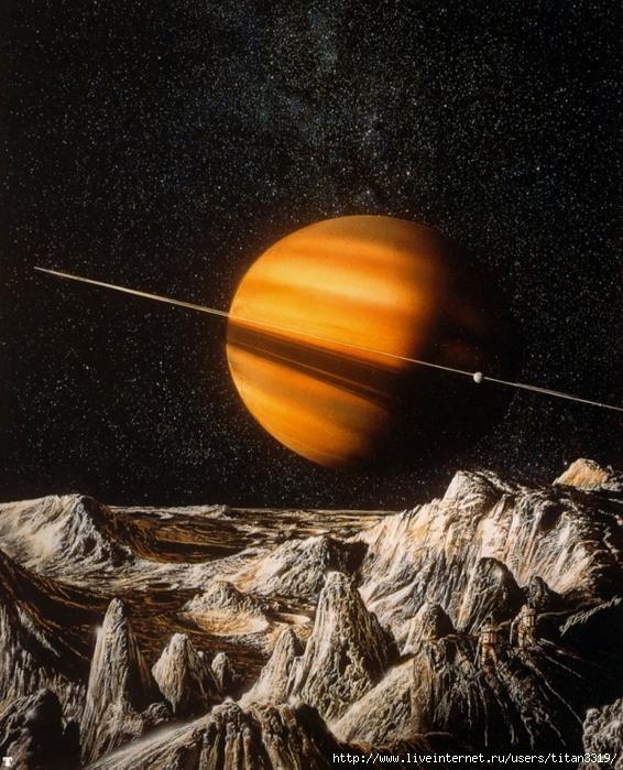 Сатурн со спутника 2 (566x700, 375Kb)