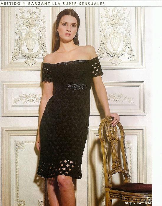 Стильное летнее платье крючком (550x700, 288Kb)