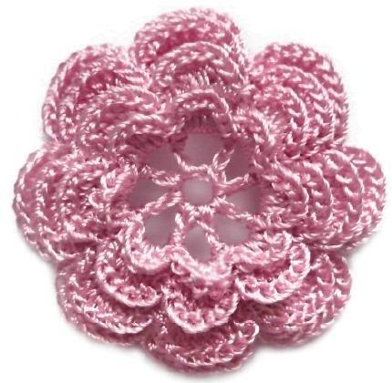Закладки для книжки из цветочков крючком. Схемы цветов (26) (430x420, 103Kb)