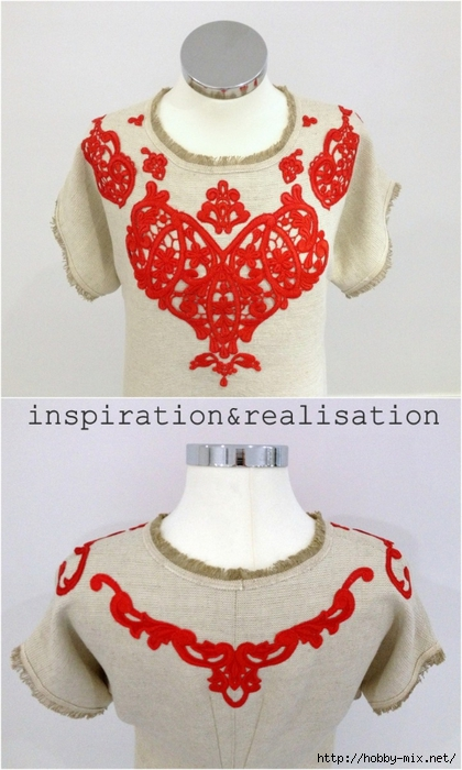 inspiration&realisation_diy_dolce_gabbana_rafia_coral_dress_front_back_top (420x700, 219Kb)