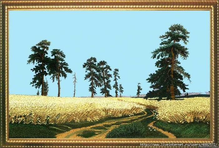 ВЫШИВАЙ. ру » Утро в сосновом лесу: авторские схемы