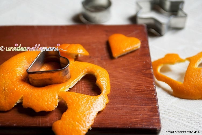 Апельсиновые сердечки с обвязкой крючком. Идея для декора подарка (4) (700x466, 217Kb)