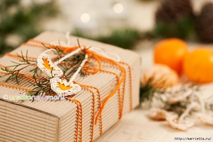 Апельсиновые сердечки с обвязкой крючком. Идея для декора подарка (6) (700x466, 211Kb)