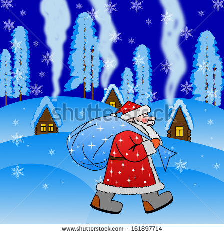 stock-photo-santa-claus-with-the-sack-of-gifts-on-a-background-winter-landscape-161897714 (449x470, 78Kb)
