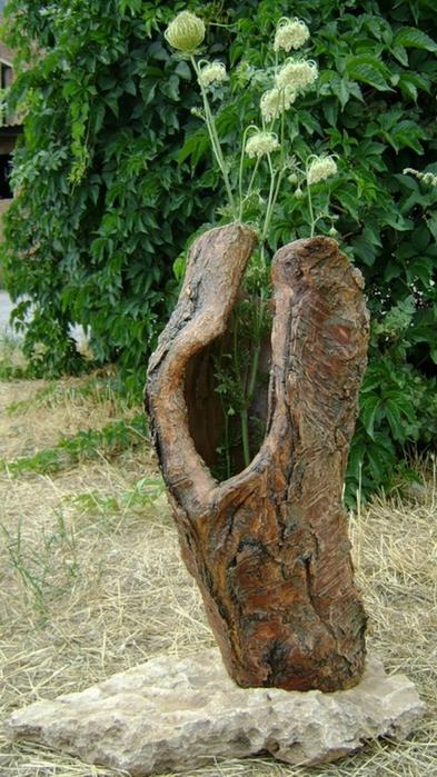 Вазы из дерева для дачи