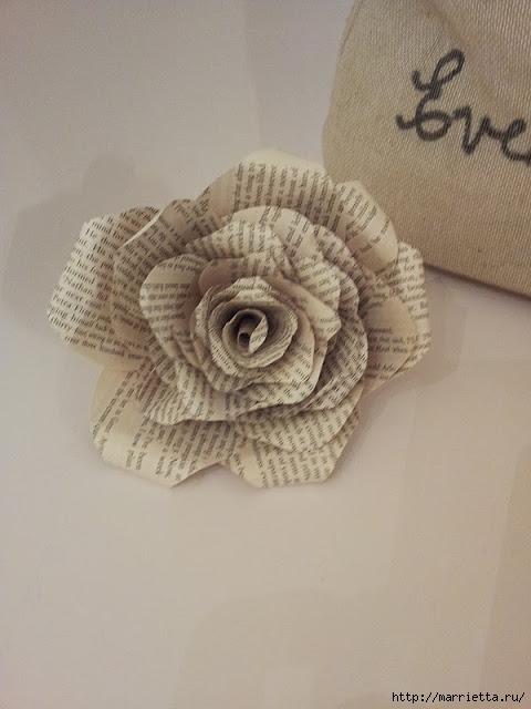 Розы из книжных и печатных страниц (7) (480x640, 145Kb)