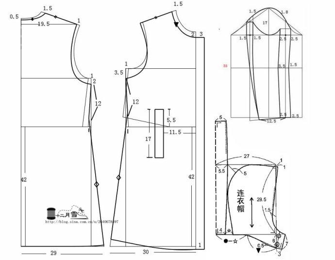 Выкройка пиджак для беременных 34