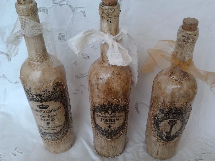 Винтажные винные бутылки (9) (700x525, 255Kb)