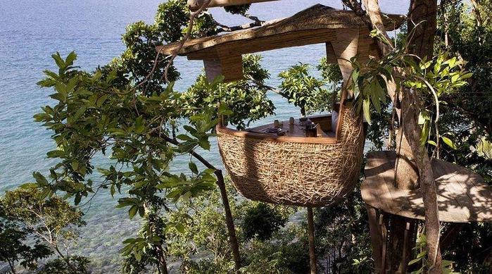 2-Ресторан на дереве. остров Ко Куд в Таиланде (700x389, 167Kb)