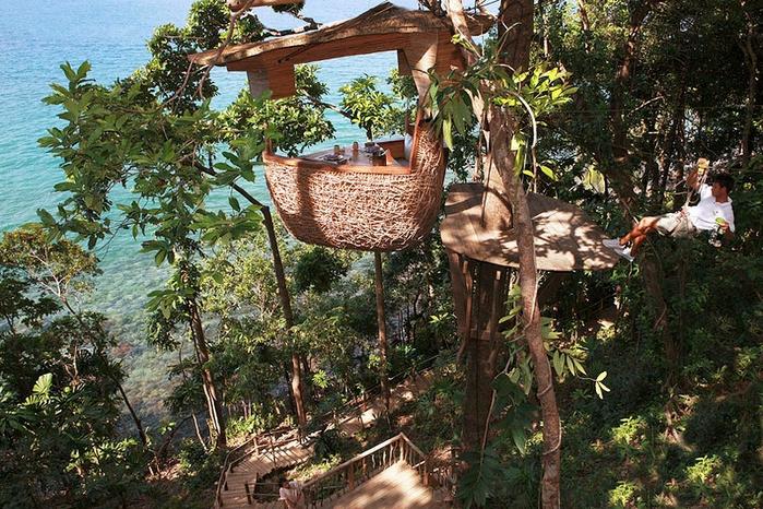3-Ресторан на дереве. остров Ко Куд в Таиланде (700x466, 371Kb)