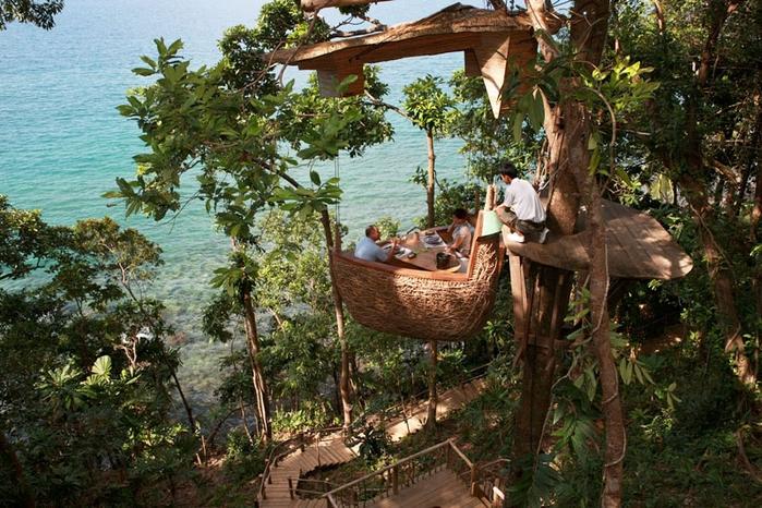6-Ресторан на дереве. остров Ко Куд в Таиланде (700x466, 341Kb)