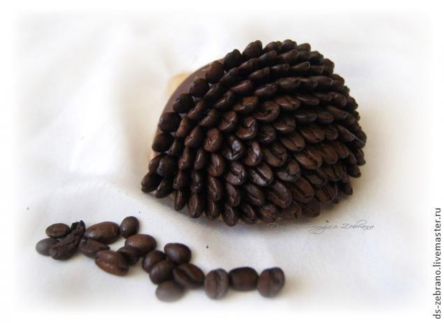 Ароматные ежики из кофейных зерен. Мастер-класс (11) (635x462, 84Kb)