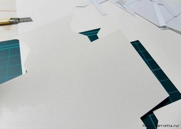 Из картона. Объемная двойная рамка для фото своими руками (4) (596x423, 88Kb)