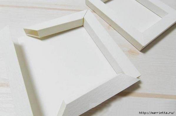 Рамка из картона своими руками фото