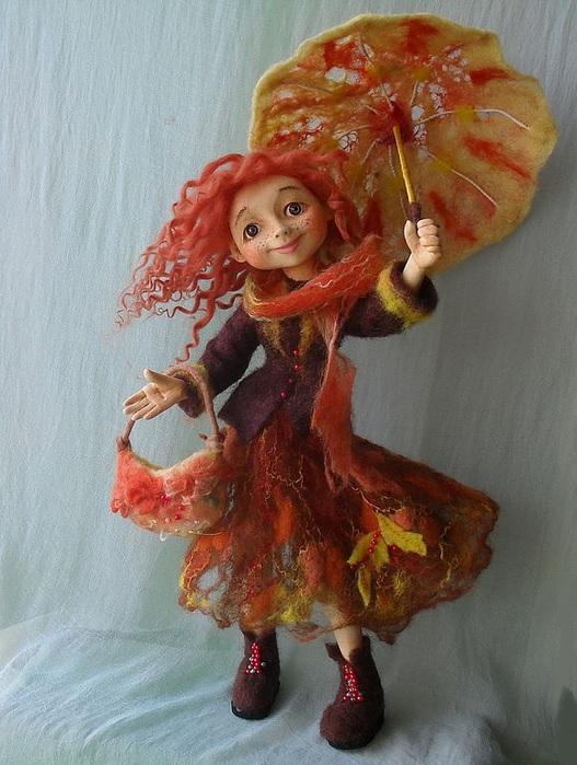 Костюм осени для куклы