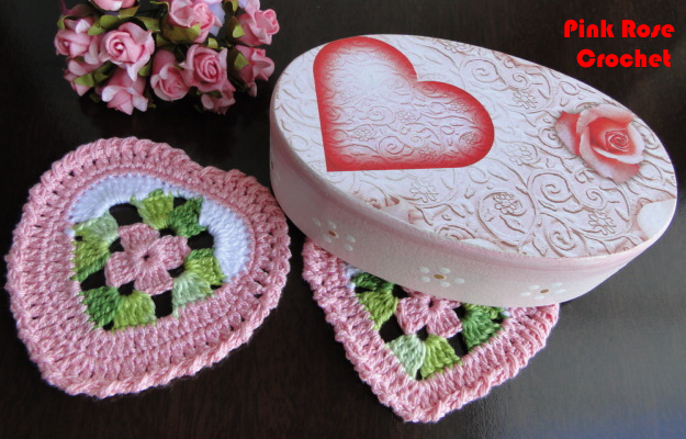 Сердечно-цветочные салфетки-валентинки крючком. Схема (4) (625x400, 584Kb)