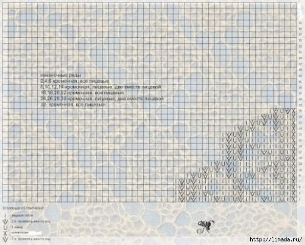 tamica.ru - Схема вязания угол2 (596x480, 204Kb)