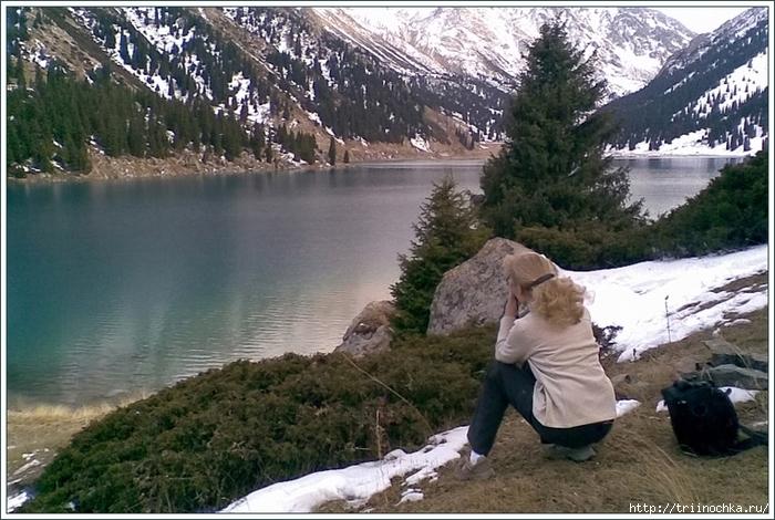Девушка, горы, озеро! Времена года