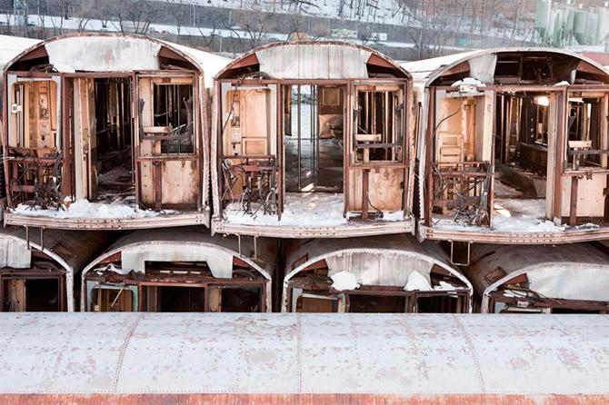 нью-йоркское метро утилизация вагонов (670x446, 378Kb)