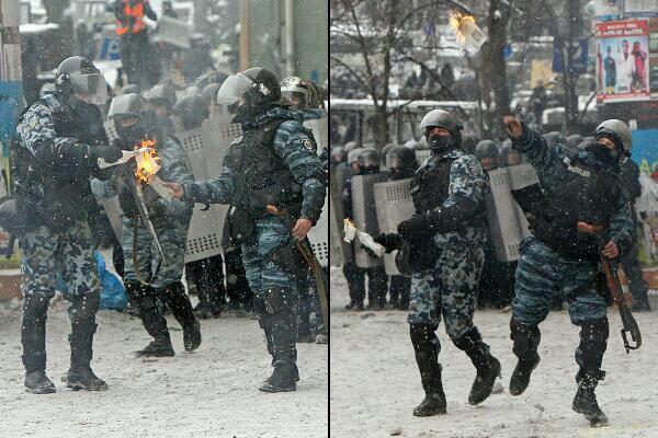 вот кто кидает коктейли Молотова, а не майдановцы (600x400, 60Kb)