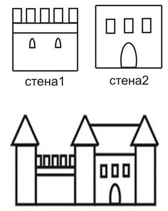 Поделка старый замок