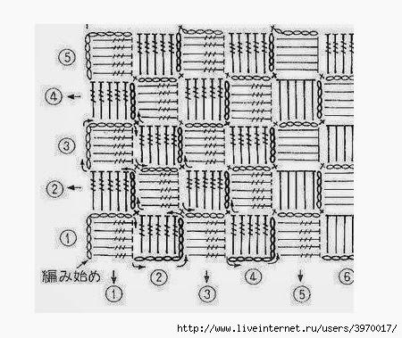 Схемы вязания крючком шахматы