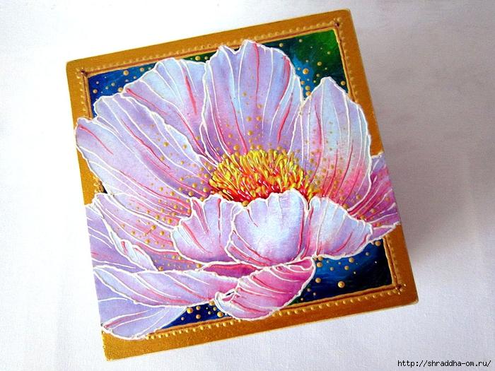 шкатулка квадрат ЦВЕТОК, автор Shraddha (1) (700x525, 329Kb)