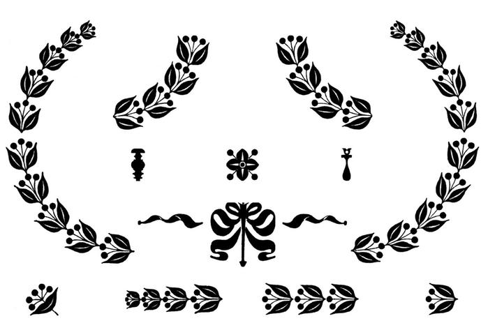 Винтажные изображения для творчества. Орнамент (4) (700x473, 95Kb)