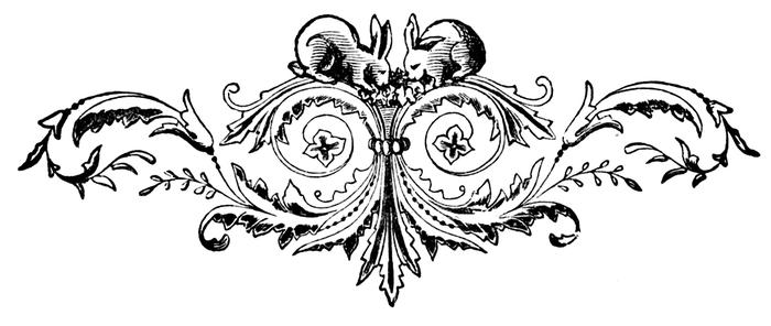 Винтажные изображения для творчества. Орнамент (17) (700x296, 86Kb)