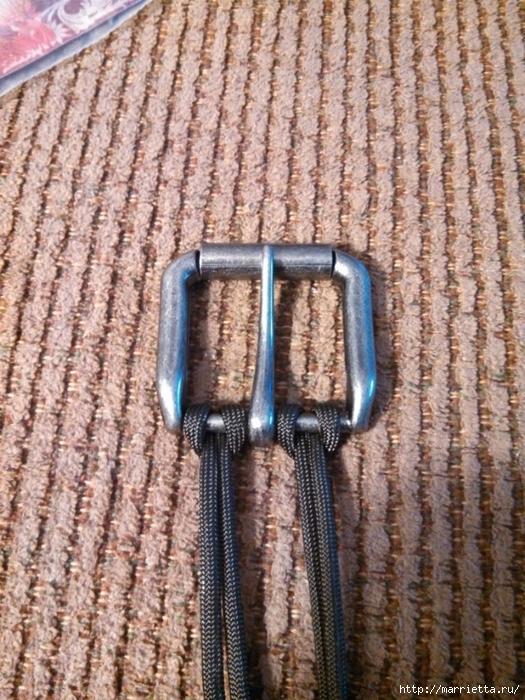 Как сплести ремень для брюк в технике макраме. Мастер-класс (38) (525x700, 361Kb)