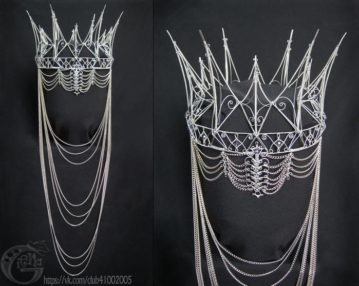 Как сделать корону своими руками из проволоки
