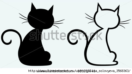 stock-vector-black-cat-silhouette-101317741 (450x254, 43Kb)