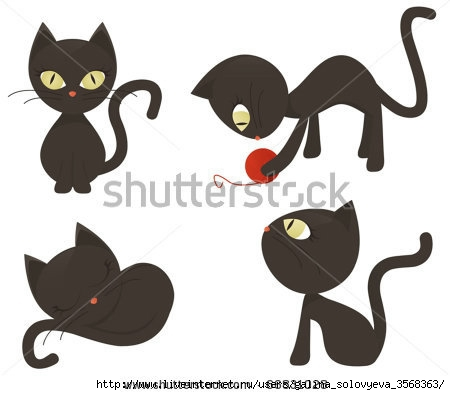 stock-vector-cats-collection-66831028 (450x395, 61Kb)