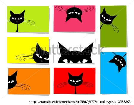 stock-vector-set-of-funny-cats-cards-for-your-design-with-place-for-your-text-78128773 (450x352, 75Kb)