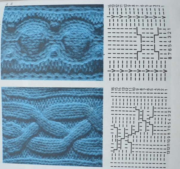 Схема вязания волнореза 47