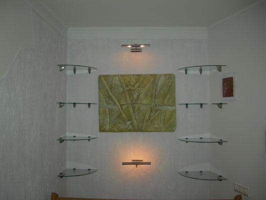 Дизайн полок для цветов на стену