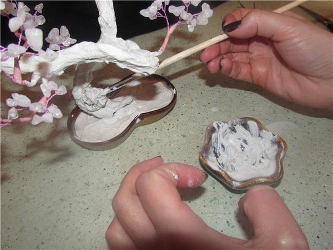 Как из гипса сделать ствол для дерева из бисера