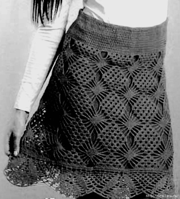 юбка вязание (633x700, 253Kb)