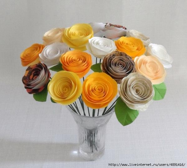 Как сделать букет роз из бумаги своими руками