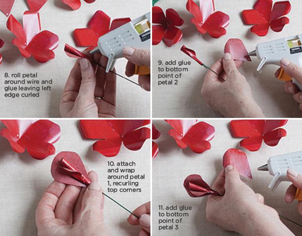 Розы из бумаги ко дню Святого Валентина. Шаблоны для распечатки (3) (612x478, 717Kb)