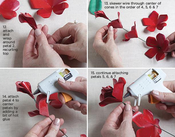 Розы из бумаги ко дню Святого Валентина. Шаблоны для распечатки (4) (612x479, 710Kb)