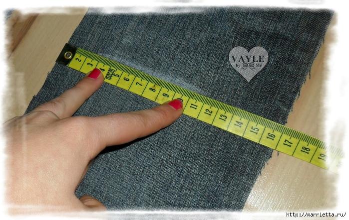 Как сшить жилет из старых джинсов (11) (700x442, 290Kb)