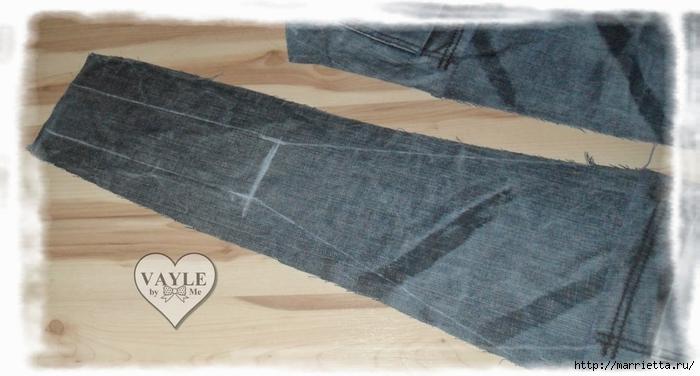 Как сшить жилет из старых джинсов (15) (700x376, 185Kb)