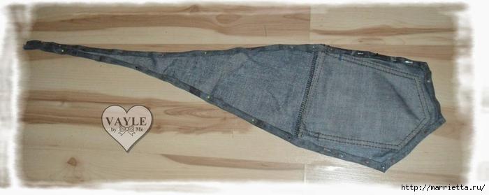 Как сшить жилет из старых джинсов (19) (700x279, 129Kb)