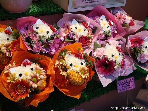 Кошечки из гвоздик. Замечательная идея букета ко Дню Святого Валентина (7) (500x375, 221Kb)