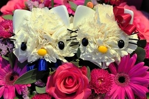 Кошечки из гвоздик. Замечательная идея букета ко Дню Святого Валентина (15) (300x199, 59Kb)