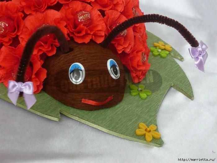 Ramo de caramelo.  Ladybird (5) (699x525, 231Kb)