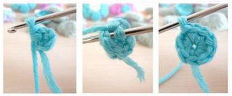 Цветочки крючком для вязания сидушки или коврика (4) (464x192, 192Kb)